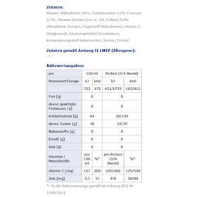 Xenofit Carbohydrate Alimentazione sportiva Mate & Zitrone 60ml